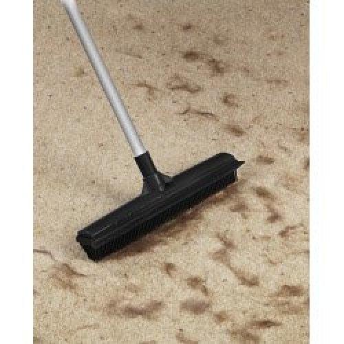 Rubber Broom With Extending Handle - Supahome Bristled Pet Hair Floor Sweeper -  rubber broom extending handle supahome bristled pet hair floor