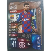 MATCH ATTAX 2019/20 LIMITED EDITION LIONEL MESSI SILVER LE5