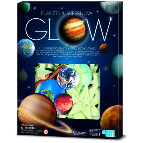 Glow in the Dark Planets and Supernova 100pcs - 4M