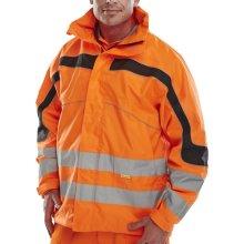 Click ET46ORXXL Hi Vis Orange Eton Water Proof Jacket With Concealed Hood XXL