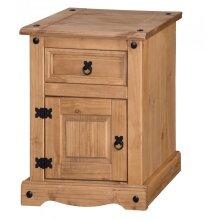 Corona Medium Pot Cupboard Bedside Pine Bedroom Furniture