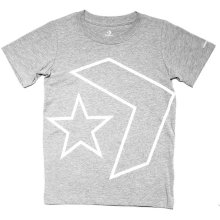 Converse Star Chevron Junior Kids T-Shirt Shirt Tee Grey