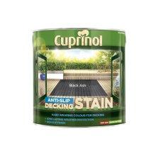 CUPRINOL Anti Slip DECKING STAIN BLACK ASH 2.5L