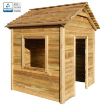 vidaXL Outdoor Playhouse 123x120x146cm Pinewood Backyard Kids Play Cottage