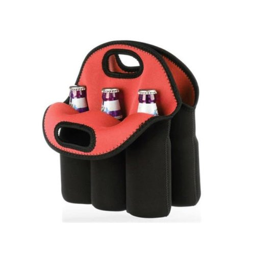 Kole Imports OT363-6 Six Pack Protective Bottle Carrier - Pack of 6
