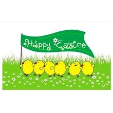Happy Easter Chicks Flag. 5x3ft flag 100% Polyester Decoration Banner