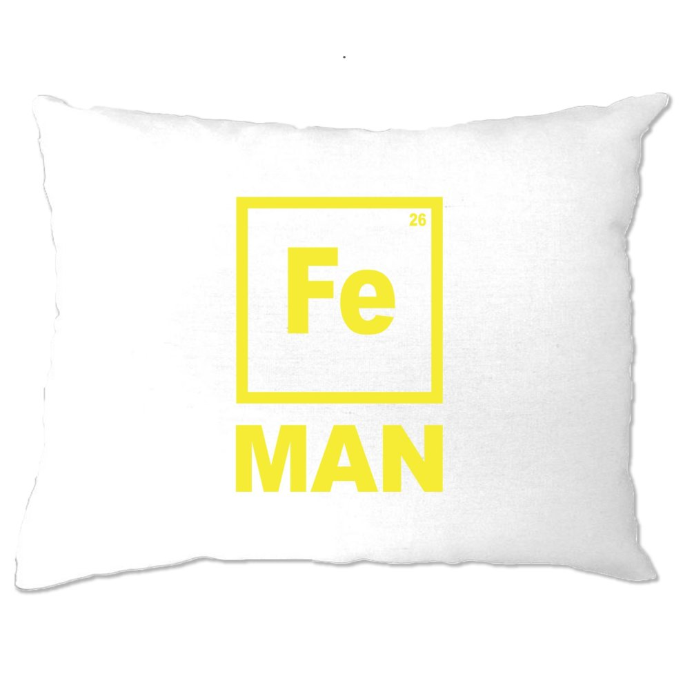 Pillow Case Fe Man Iron Chemical Symbol