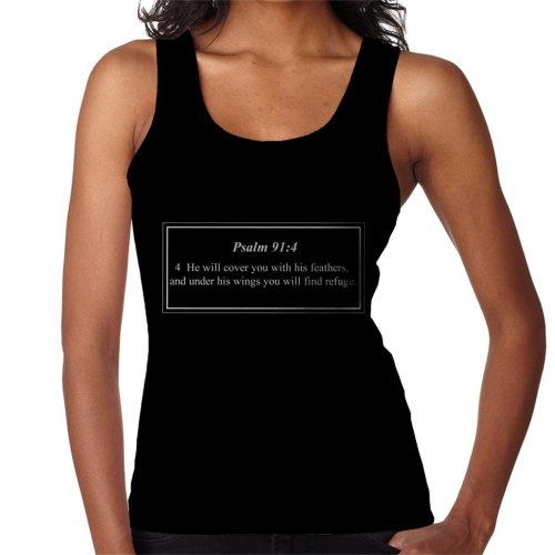 Religious Quotes He Will Cover You With His Feathers Women's Vest