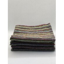 Pack Of 4 Striped Recycled 100% Cotton Face Flannels 30 x 30 cm