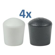 DOMED FURNITURE FEET FERRULE CAPS STOPPERS - IN MANY SIZES & COLOURS BY LIFESWONDERFUL®