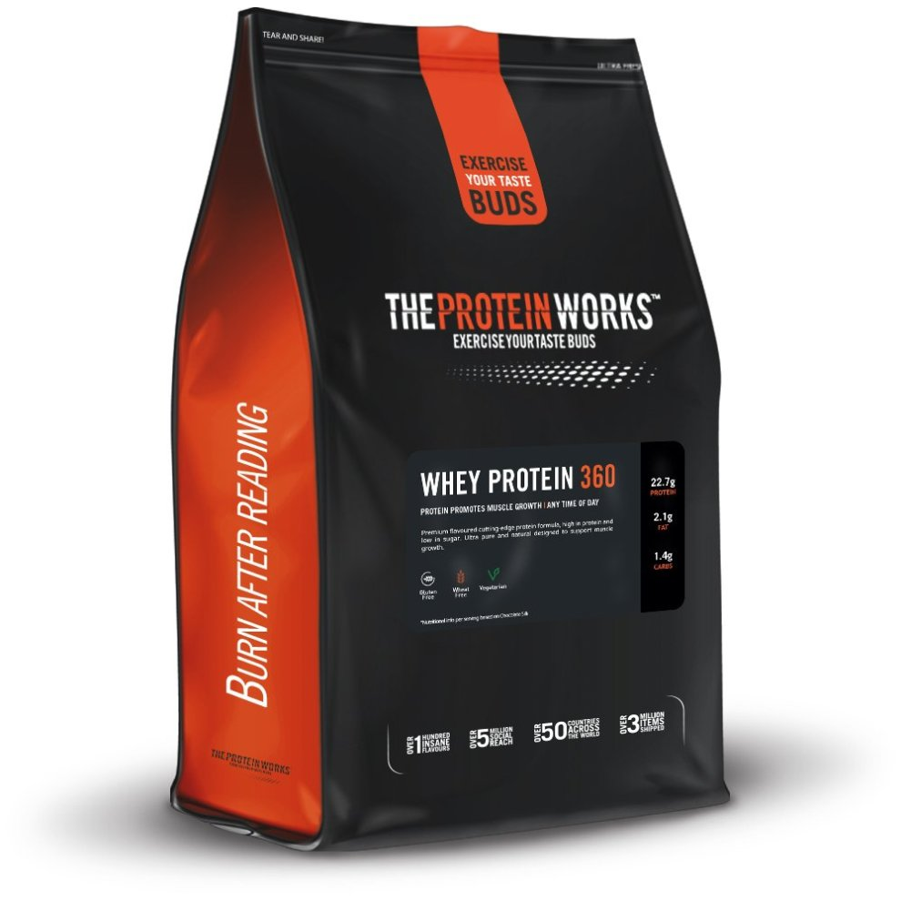 The Protein Works Whey Protein 360 Shake Powder, Strawberries and Cream, 2.4 kg