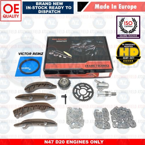 FOR BMW X3 18d 20d E83 F25 UPPER & LOWER DIESEL ENGINE TIMING CHAIN KIT N47D20