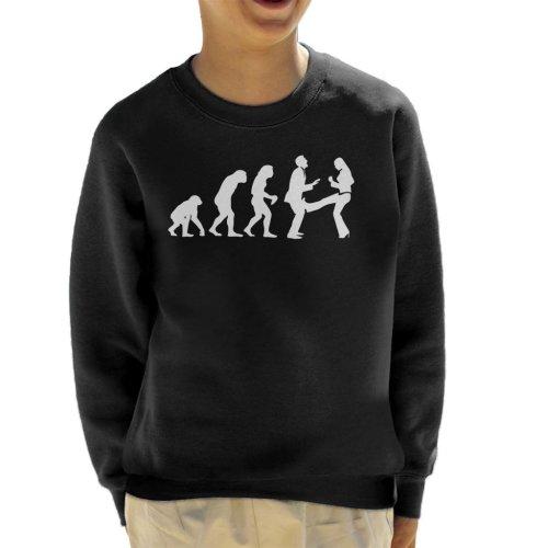 Anti Men Evolution Kid's Sweatshirt