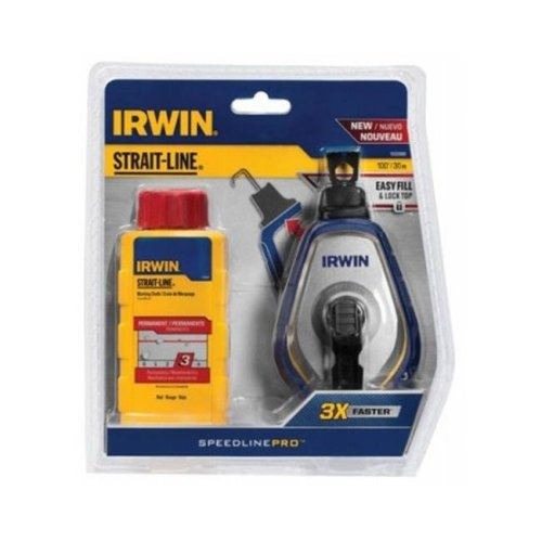 Irwin Industrial Tool 205602 100 ft. Pro Red Chalk Reel 1932888