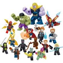 Marvel 16pcs/set Compatible Lego Avengers Minifigures Building Blocks Blocks Toy Children Gifts