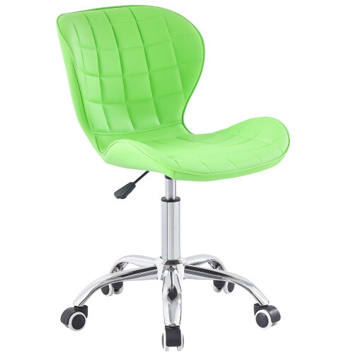 (Green) Charles Jacobs Adjustable Swivel Chair | Office Chair With Chrome Wheels