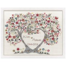 Bothy Threads Cross Stitch Kit - Love Blossoms by Kim Anderson XKA4