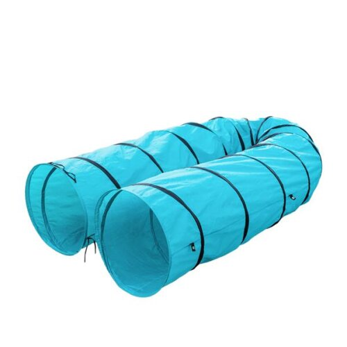 18' Agility Training Tunnel Pet Dog Play Outdoor Obedience Exercise Equipment Blue