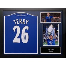 Framed John Terry signed 2012/13 Chelsea shirt with COA & proof
