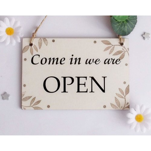 Open Closed Sign Sorry We Are Closed Come In We Are Open Wooden Sign