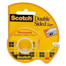 Scotch Permanent Double Sided Tape with Dispenser Pack of 1 Tape 12.7mm x 11m