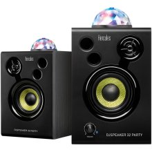 "Hercules DJSpeaker 32 Party 3"" Powered Speakers with Integrated Light Dome (Pair)"