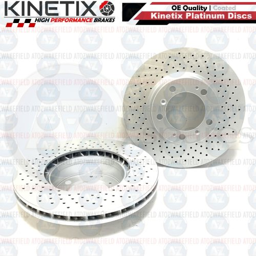 FOR PORSCHE 911 996 3.6 CARRERA FRONT CROSS DRILLED COATED BRAKE DISCS PAIR 318m