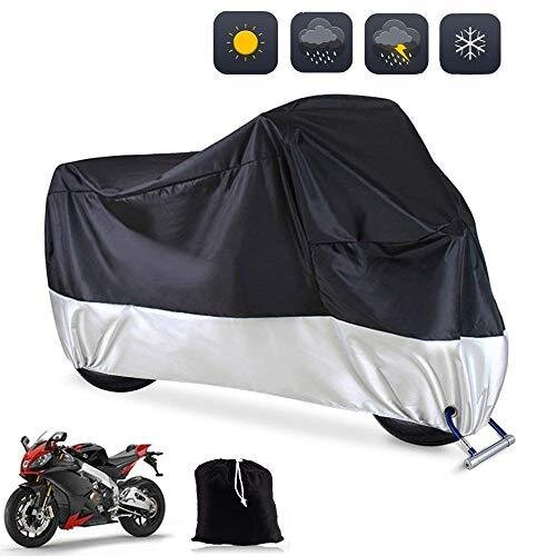 Big Hippo Motorbike Cover, Waterproof Motorcycle Cover 108'' XXL 190T Motorcycle Indoor Outdoor Protection Motorbike Rain Cover Anti Scratch Dust UV