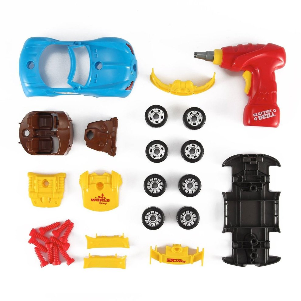 Vinsani Racing Car Take-A-Part Toy For Kids With 30 Take