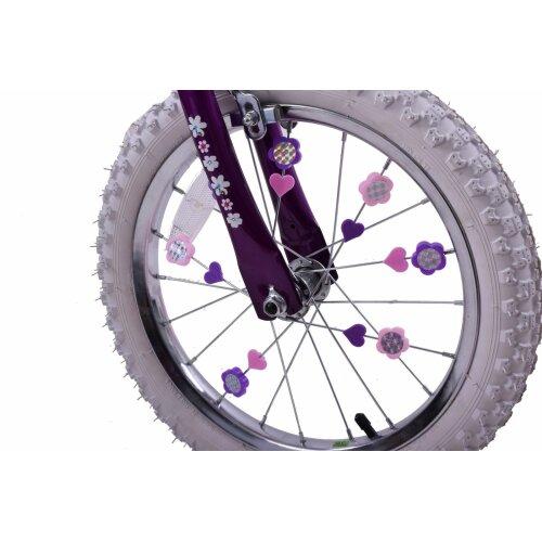 Pink&Purple Colourful Bike Wheel Spoke Beads Kids Spokey Dokeys Clips