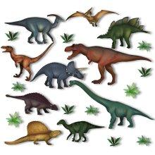 10 Dinosaur & Jurassic Plant Window Clings