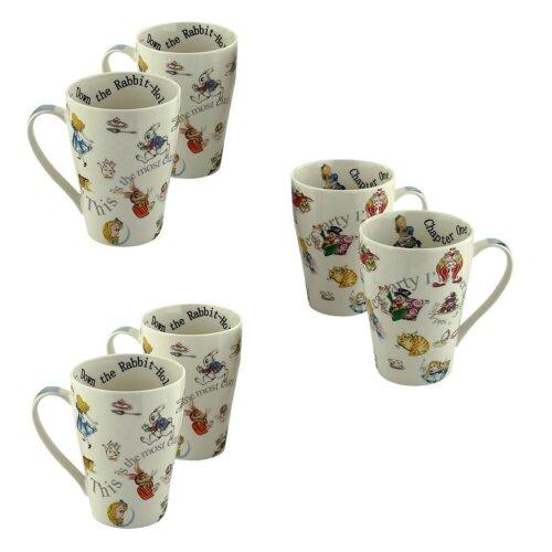 Cardew Alice in Wonderland and Friends 15Oz. 6 Mug Set