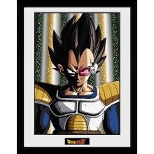 GB eye LTD, Dragon Ball Z, Vegeta, Framed Print 30x40cm, Wood, Various, 52 x 44 x 3 cm