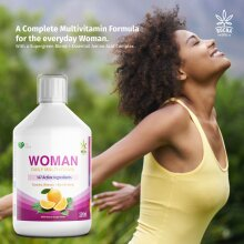 Multivitamins for Women | A-Z VitaminS & Minerals + Amino Acids + SuperGreen Blend 500ml Liquid Vitamin Supplement