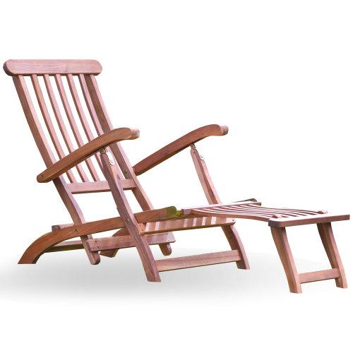 Plant Theatre Reclining Hardwood Steamer Chair | Wooden Steamer Chair