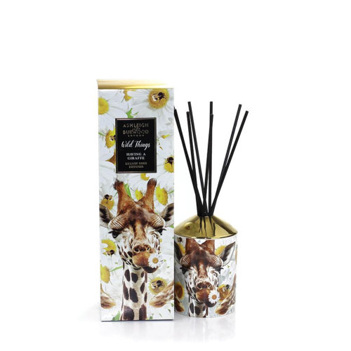 Ashleigh & Burwood Wild Things Luxury Scented Reed Diffuser Boxed Gift Set You're Having a Giraffe - Orange Blossom