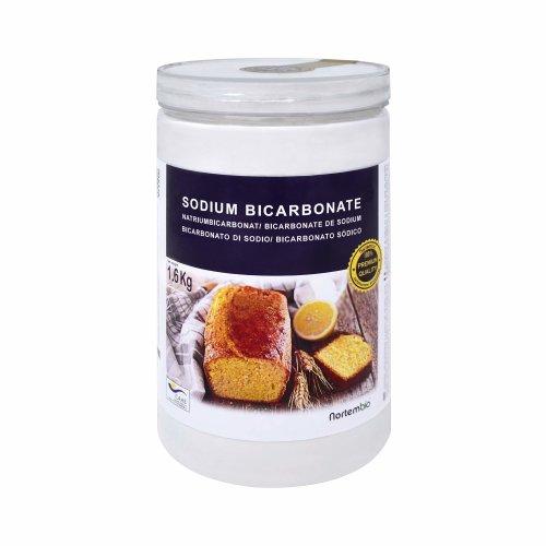 NortemBio Bicarbonate of Soda 1.6 kg, Baking Soda. Food Grade. Premium Quality. Developed in UK.