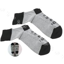 Unisex Socks If You Can Read This Bring Me a Glass of Wine Letters Black&Gray