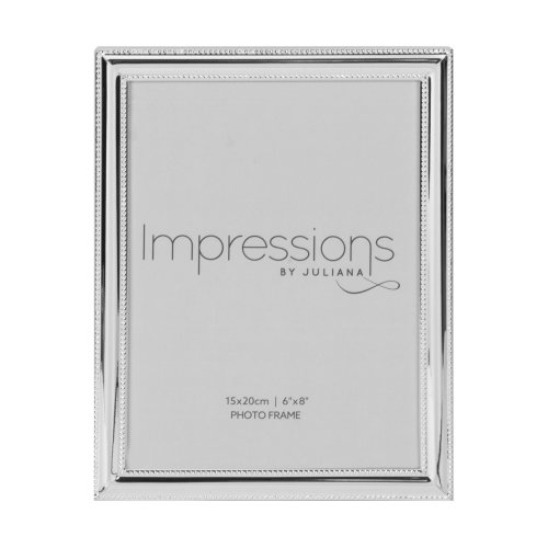 Impressions Silverplated Beaded Edge Photo Frame - 6' x 8'