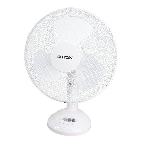 12 Inch 40W 3 Speed Desktop Home Office Desk Oscillating Portable Fan Cooling