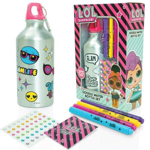 L.O.L. Surprise Doodle Water Bottle Colour Your Own Water Bottle