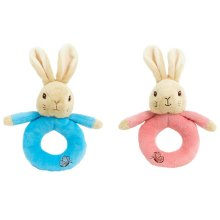 Beatrix Potter Peter Rabbit/Flopsy Bunny Ring Rattle?Kid Plush Soft Toy?Giftware