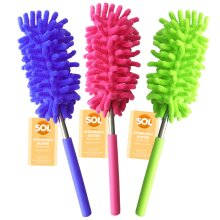 3pk Extendable Feather Duster   Long Handled Duster