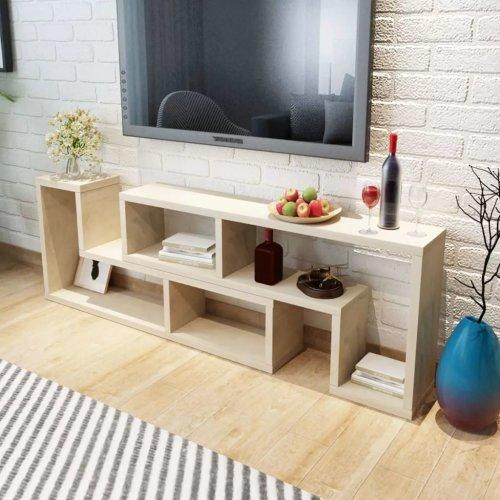 vidaXL TV Cabinet Double L-Shaped Oak Stand Shelf Home Furniture DVD Player