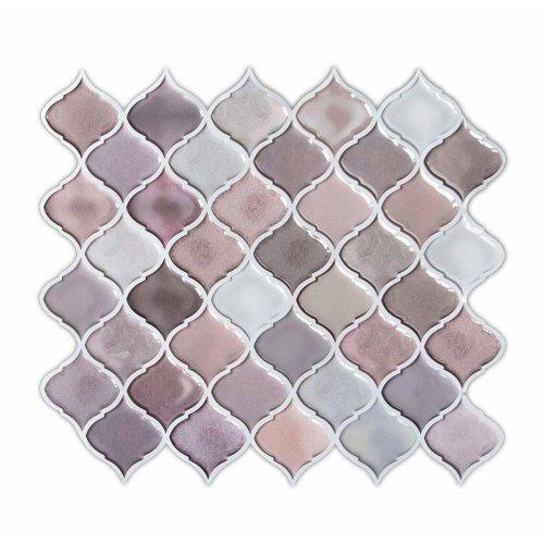 5pk L Stick Wall Tiles Pink