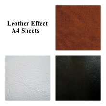 Leather Effect Sticky Back Self Adhesive A4 Sheet Craft Vinyl