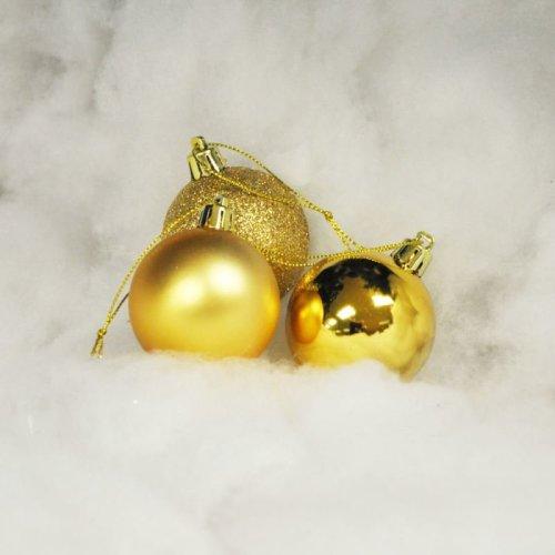 Christmas Tree Decorations Xmas Tree Baubles Glitter Gloss /& Matt Red /& White