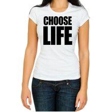 Choose Life WHAM women T Shirt Retro 80s Fancy