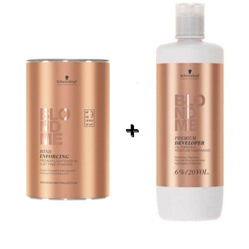 Schwarzkopf Blond me 9+ Powder 450g + 6% Developer 1L