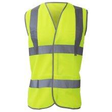Dickies Higway Safety Hi Vis Waistcoat / Mens Workwear Jacket (Pack of 2)